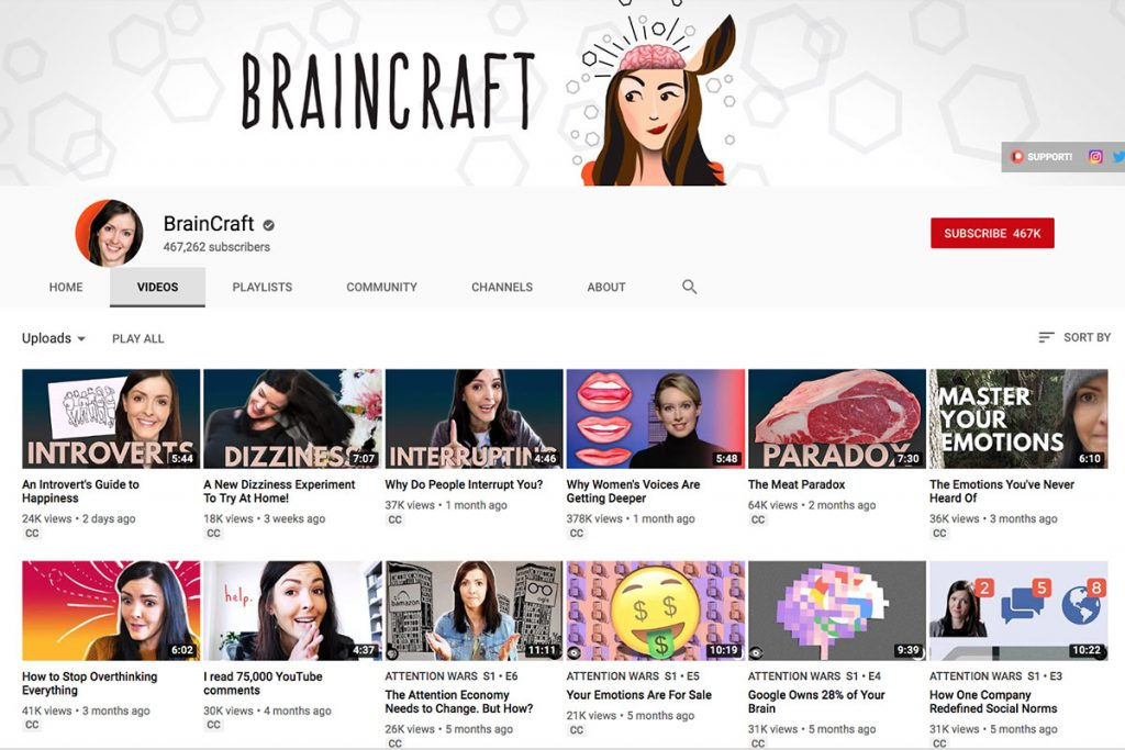 Brain Craft YouTube Channel for Unschooling and Homeschooling Kids