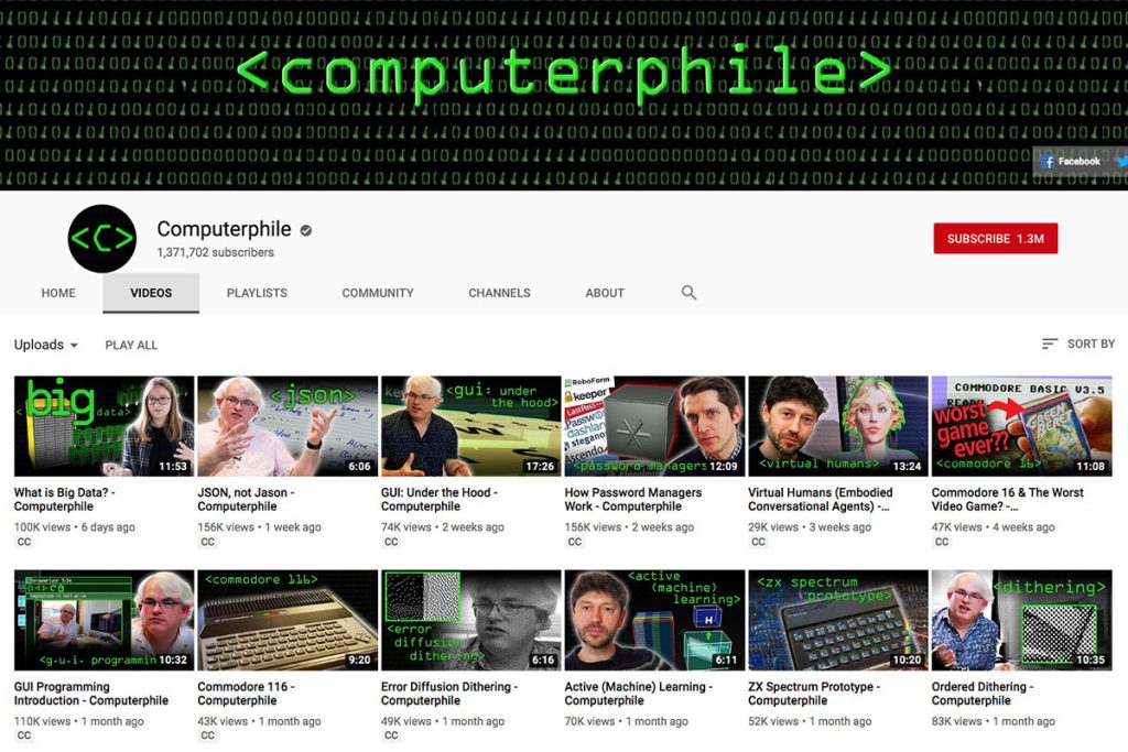 Computerphile YouTube Channel for Unschooling and Homeschooling Kids