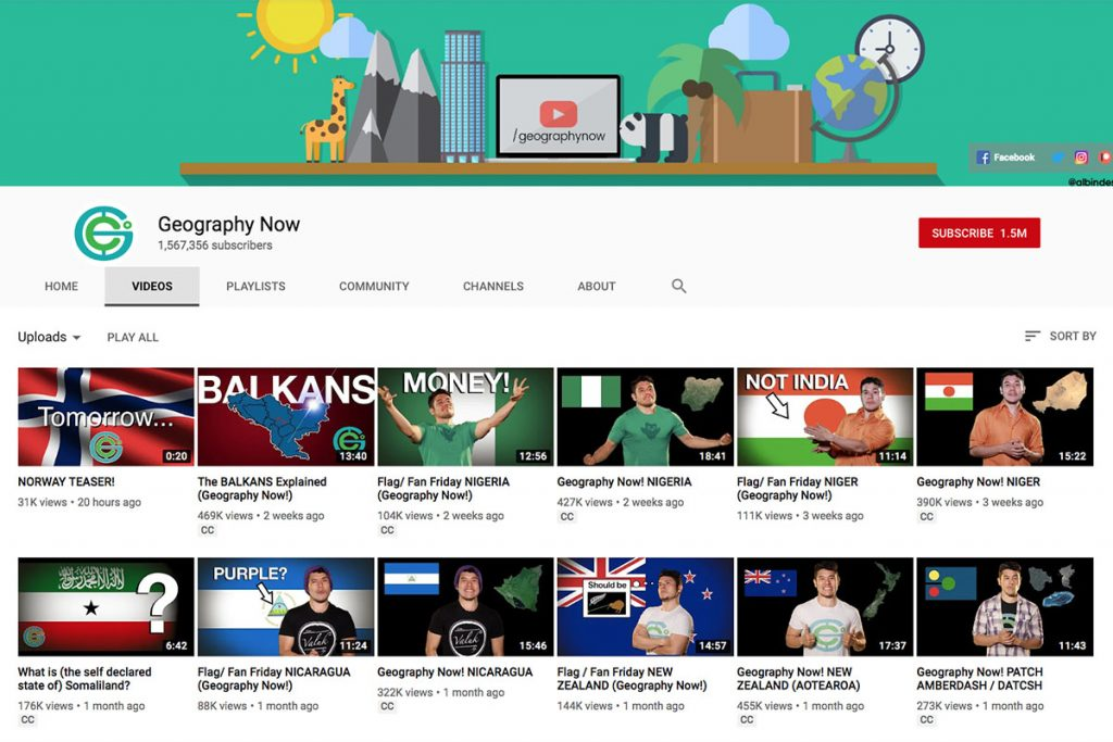 Geography Now YouTube Channel for Unschooling and Homeschooling Kids