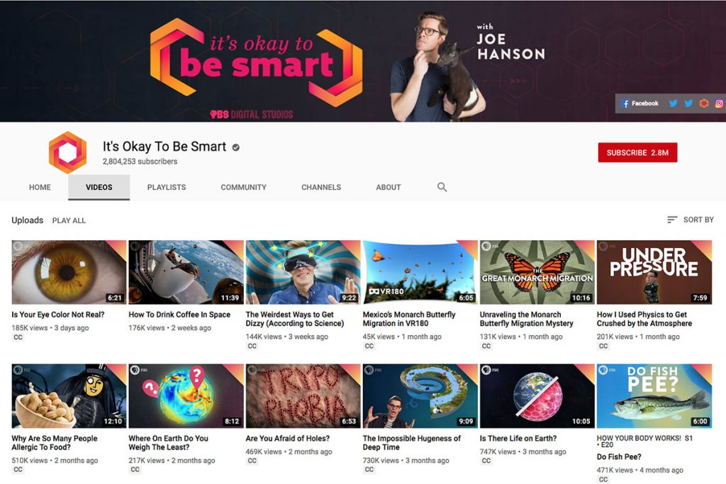 It's Okay to Be Smart YouTube Channel for Unschooling and Homeschooling Kids