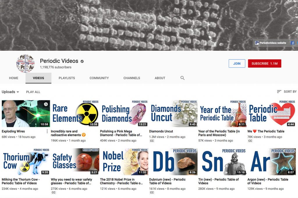 Periodic Videos YouTube Channel for Unschooling and Homeschooling Kids