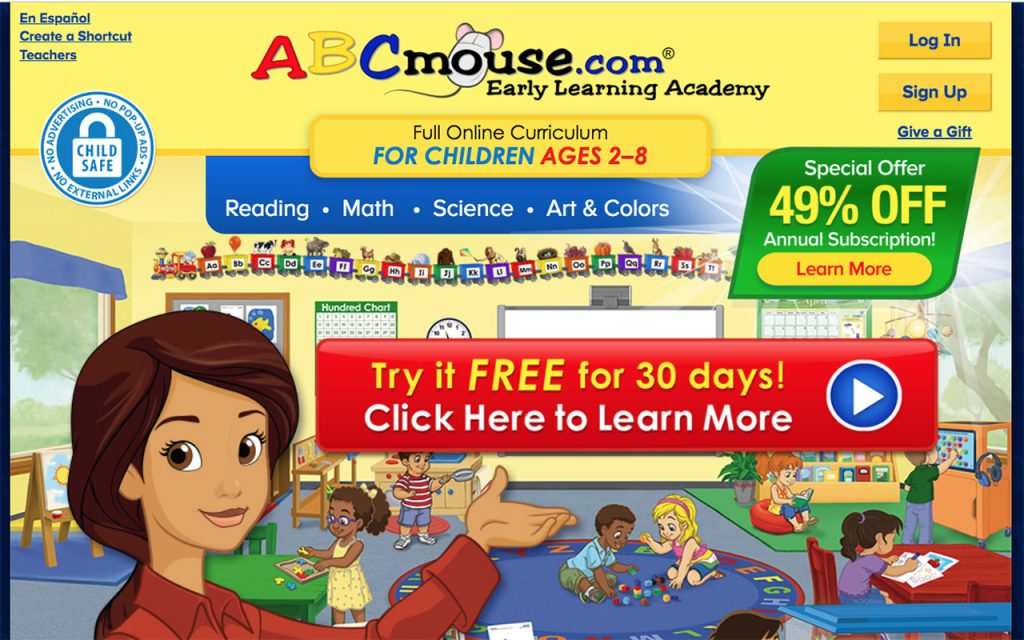 ABCmouse: Online Resource for Unschooling