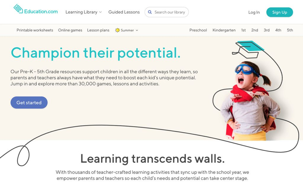Education.com: Online Resource for Unschooling