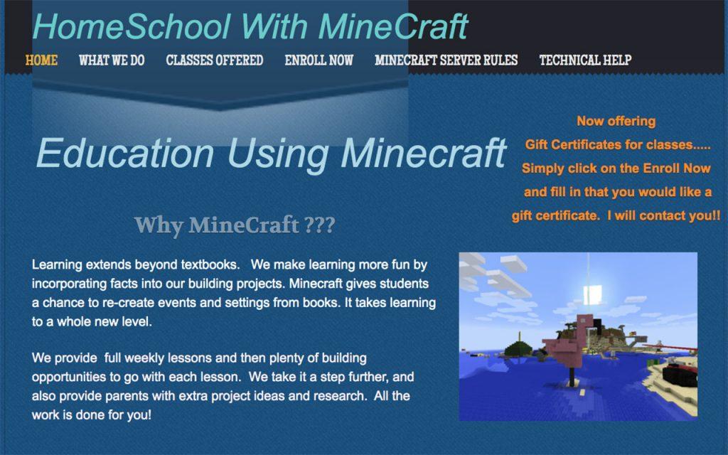 Homeschool with Minecraft: Online Resource for Unschooling