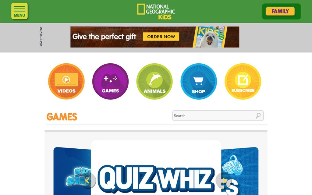 National Geographic for Kids: Online Resource for Unschooling