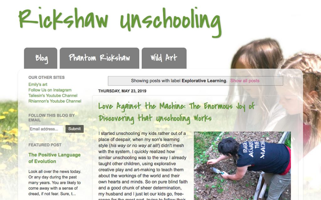 Rickshaw Unschooling : Unschooling Blog You Should Follow