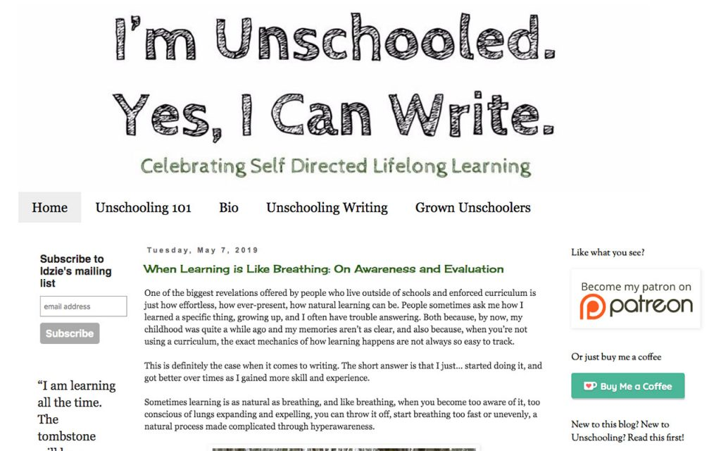 Yes I Can Write : Unschooling Blog You Should Follow
