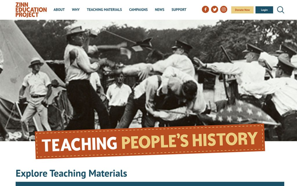 Zinn Education Project Online Resource for Unschooling